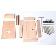 17 Keys DIY thumb piano Kalimba handmade woodworking workshop DIY musical instrument wood art Kids Gift