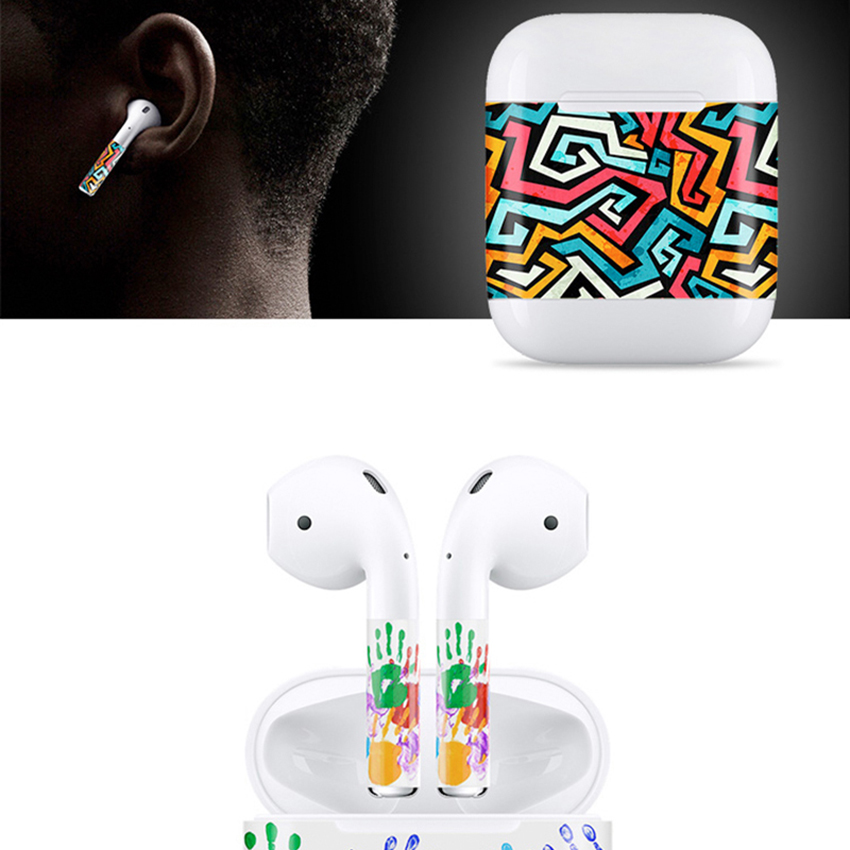 For airpods skin individual style Stylish Design Absolutely no sticky residue S New Release Protective Vinyl Sticker earphone in Earphone Accessories from Consumer Electronics