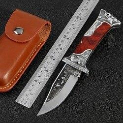 KKWOLF Tactical wysokiej twardości nóż składany narzędzie dżungli nóż wojskowy dziki survival Camping samoobrony nóż myśliwski EDC w Noże od Narzędzia na