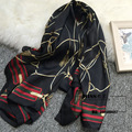 90x180cm Chain Printed Scarf Women's Winter Scarves Luxury Brand Shawls Pareo Hijab Bandanas Foulard Echarpe