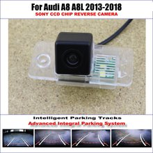 Rear Camera For Audi A8 A8L 2013-2018 Parking Tracks Backup Reverse Lines Dynamic Guidance Tragectory