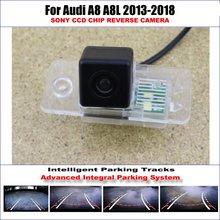 Rear Camera For Audi A8 A8L 2013-2018 Parking Tracks Backup Reverse Lines Dynamic Guidance Tragectory for audi a8 a8l emblem rear chrome oem quality 4e0853741a2zz