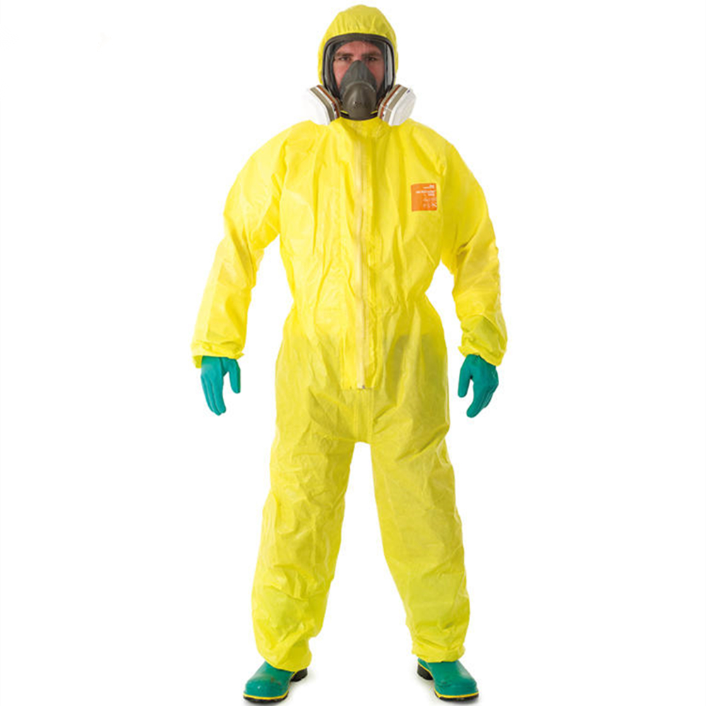 Pro vêtements de sécurité WHJ3000 produits chimiques vêtements de protection tout le corps acide sulfurique alcalin combinaisons de sécurité Mercury chimique costume