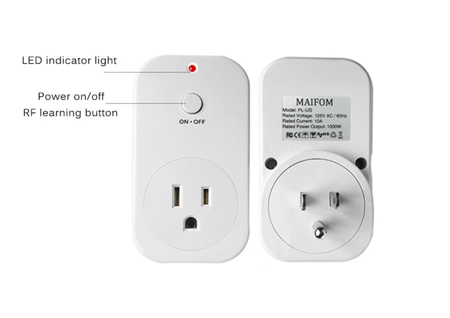 C Smart Wireless Socket Rf433whz Plug Outlet Us Std Home Automation Timer Wall Wifi Control