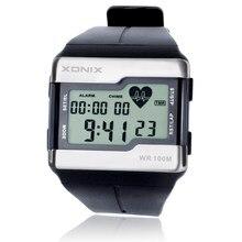 ホット!!! トップファッション心拍数モニター男性スポーツ腕時計防水 100 30m デジタル水泳ダイビング腕時計モンタオム
