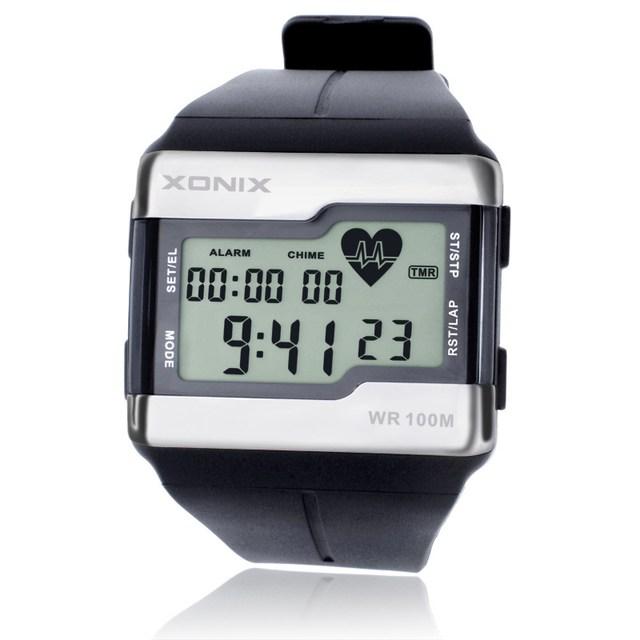 חם!!! למעלה אופנה קצב לב צג גברים ספורט שעונים עמיד למים 100 m דיגיטלי שעון שחייה צלילה שעוני יד Montre Homme