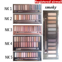 Naked Eye shadow NK 1 2 3 4 5 SMOKY eyeshadow with brush kit Makeup 12 color Palette cosmetic dropshipping face care classic