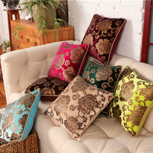 Hot Sale High Quality Vintage Luxury Flower Velvet Throw Pillow Pillowcase Cushion Home Decor Cojines Capa Almofada Kussenhoe