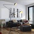 Nordic Art Design Serge Mouille Tripod Floor Lamp 1 Arm/3 Arms Standing Lamp Black/White Iron Shade Stand Light Lamparas De Pie
