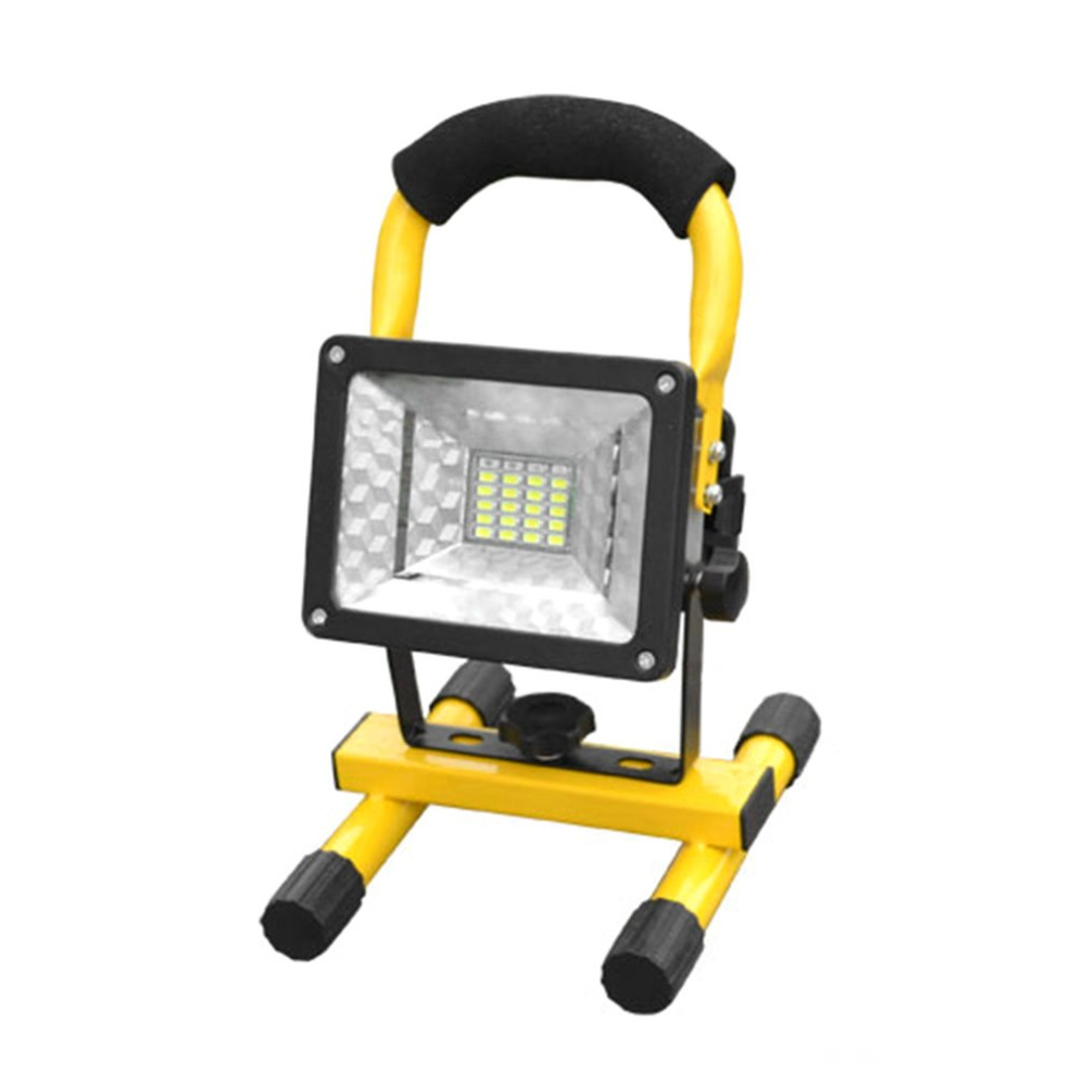 Portable Spotlights High Power 30W LED Projection Lamp Light Searchlights Flashing Warning Waterproof Flood with holder 2017 New 8 led flashing yellow light caution warning lamp with magnetic mount holder