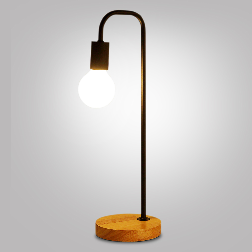 Modern wooden wrought iron desk lamp simple and beautiful creative modern wooden wrought iron desk lamp simple and beautiful creative personality dormitory bedroom study bedside table lamp in desk lamps from lights geotapseo Image collections