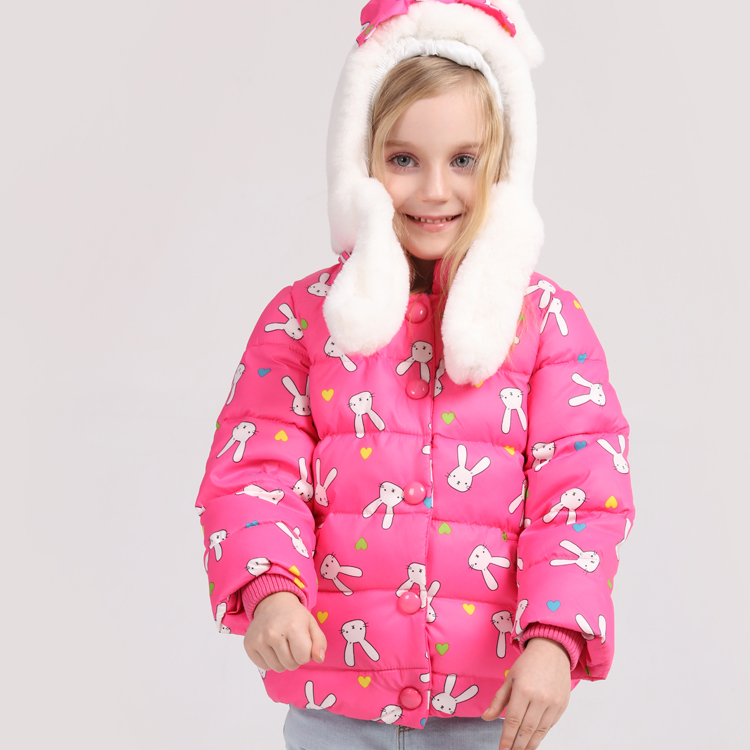 2016New High Quality 3~9Years Old Girls Winter Down Jackets Big Fur Down Coat Children Outerwear Baby Winter Warm parka Clothing
