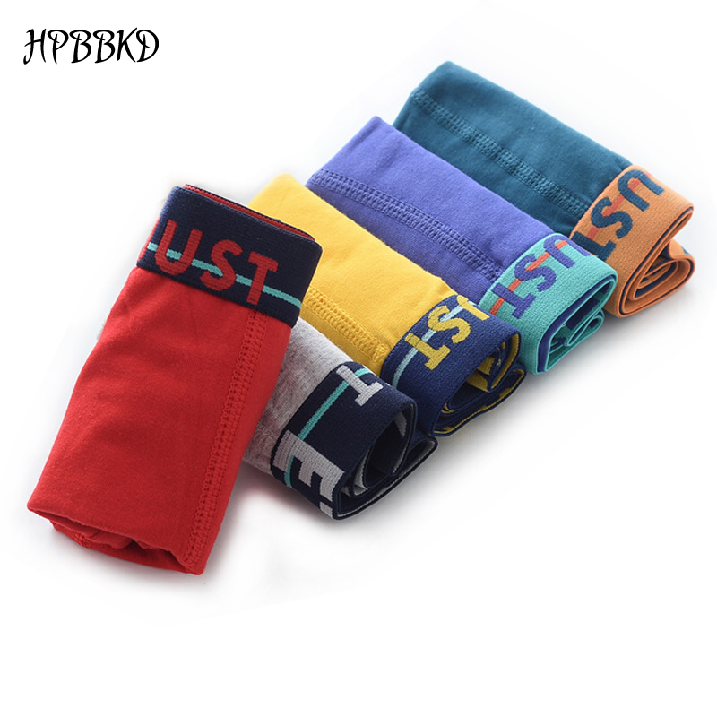 5pcs/lot Solid Color Boy Panties Cotton Children Breathable Underwears Boxer Panties For Boys Kids Shorts Pants BU019