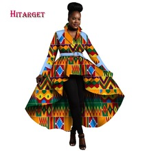 2017 Otoño Africano Trench Coat para Mujeres Africanas Tops Ropa África Imprimir Outfits Dashiki Office Outwear Más Tamaño WY1266