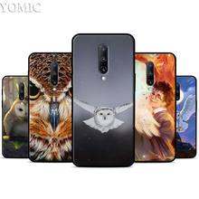 Snowy Owl Silicone Case for Oneplus 7 7Pro 5T 6 6T Black Soft Case for Oneplus 7 7 Pro TPU Phone Cover