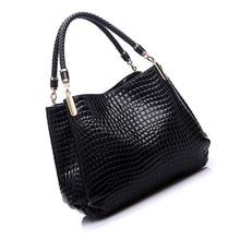 FGGS Hot Fashion Women Crocodile Pattern Leather Shoulder Bag