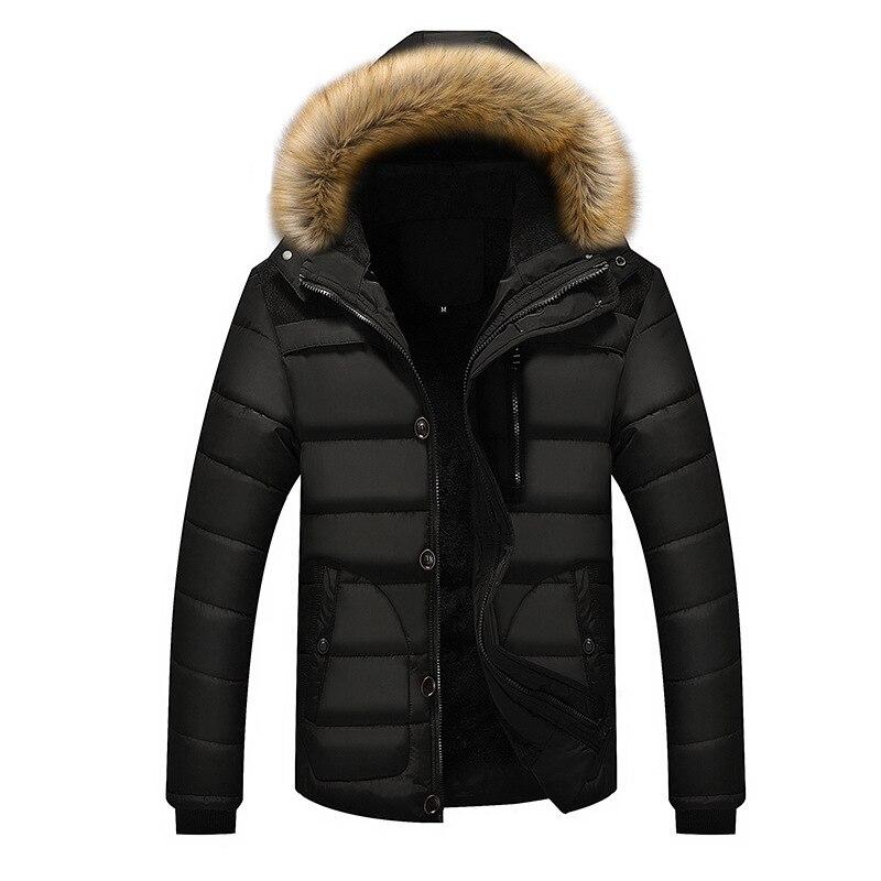 Drop Shipping 2018 -25 C Winter Jacket Men New Parka Coat Down Keep warm Fashion S-4XL AXP131