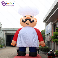 GREAT CRAFT 6m inflatable giant chef decoration / huge cool balloon toy customized for advertising in restaurant free shipping