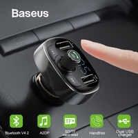 Baseus FM Transmitter Modulator Bluetooth Handsfree Car Kit Audio MP3 Player with 3.4A Dual USB Car FM Transmittor Phone Charger