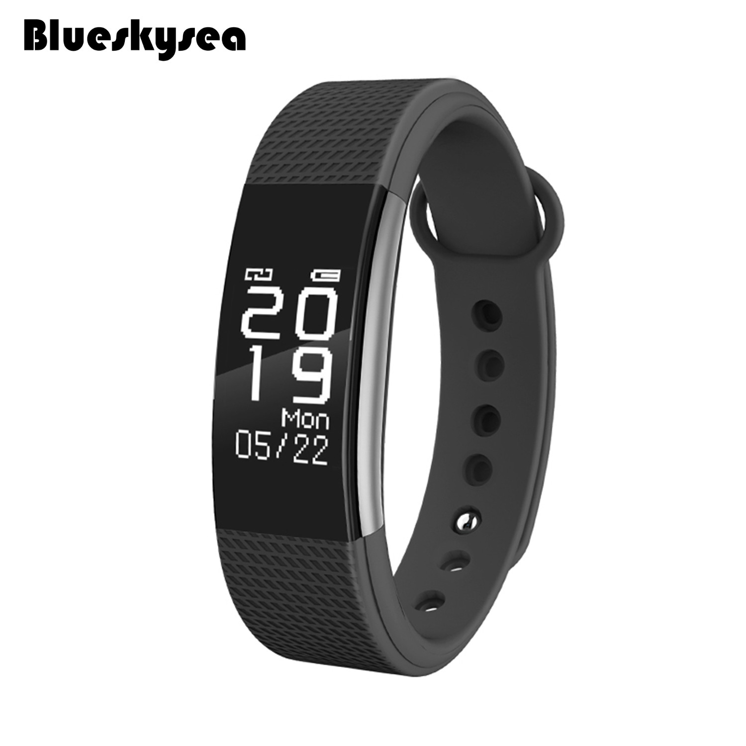 Blueskysea F1 Smart Watch Blood Pressure Heart Rate Monitor Fitness Tracker Band Touchscreen <font><b>IP67</b></font> for IOS Android <font><b>Smartphone</b></font>
