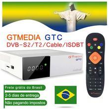 Caixa 6.0 da tevê do andróide DVB S2 da caixa/t2/cabo/isdbt amlogic s905d 2gb ram 16gb rom gtmedia gtc decodificador com linhas de europa