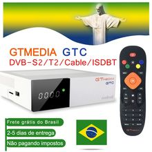 TV Box Android 6.0 TV BOX DVB S2/T2/Cable/ISDBT Amlogic S905D 2GB RAM 16GB ROM GTmedia GTC Decoder with Europe Lines