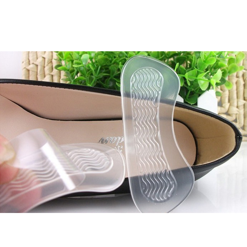 1pair=2pcs Silicone Foot Pads Anti-slip Gel High Heel Shoes Cushions Liner Grip Foot Care Tool Inserts Insole Pad Orthopedic Mat