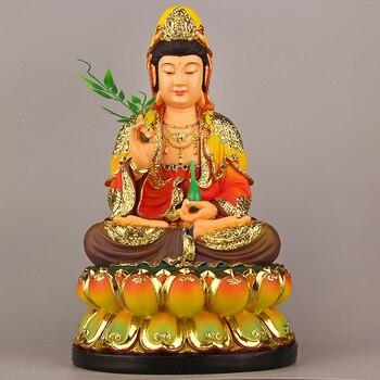 LARGE -Wholesale Buddha figure # HOME family efficacious Protection Talisman Asia FENG SHUI gilding Guanyin Buddha statue