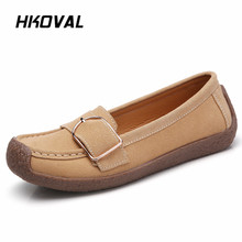 HKOVAL Women Shoes Sneaker Genuine Leather Loafers Flats Moccasins Shoe Spring Summer  Female Casual Ladies Leather Footware shoes women 2017 new women genuine leather flats casual female moccasins spring summer lady loafers women driving shoes