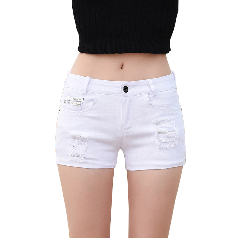 imágenes detalladas estilo clásico disfruta el precio de liquidación € 10.66 40% de DESCUENTO|Pantalones cortos Ultra cortos de mezclilla de  algodón Con agujeros para mujer Pantalones cortos de cintura baja 2019  nuevo ...
