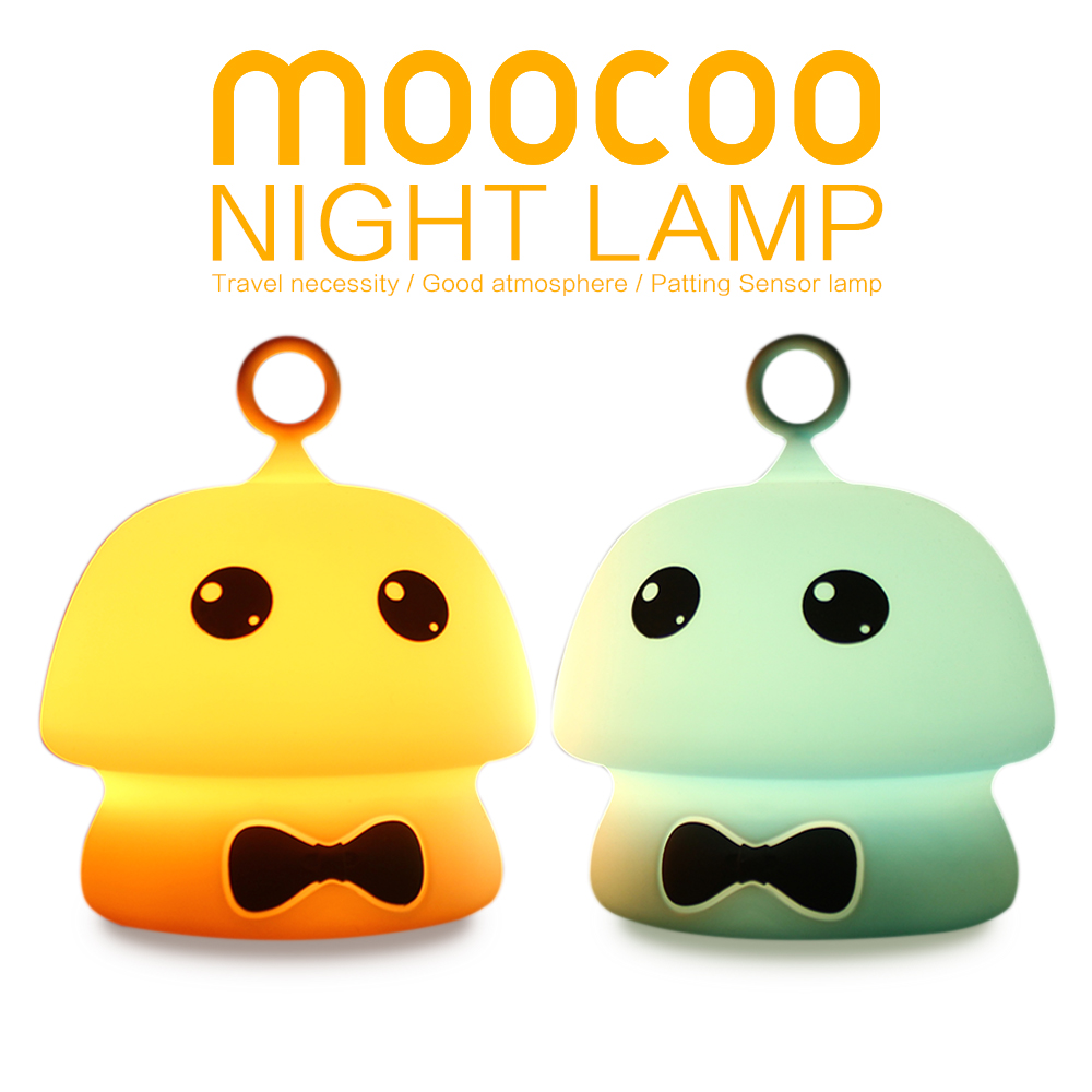 New Silicone Mushroom LED Night Light USB 7color Touch Animal Cartoon Colorful TableLamp ...