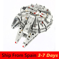 Movie Building Blocks Star Wars Series 05007 Force Awakens Millennium Falcon Compatible 75105 Toys for Baby In Stock