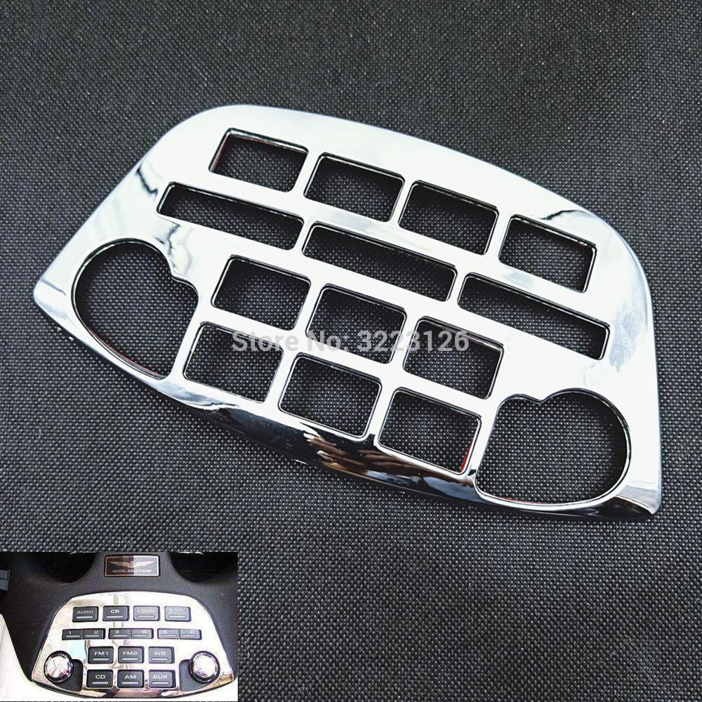 Motorcycle Radio Accent Panel Decoration Chrome Fairing Control Accent For Honda Goldwing GL1800 GL 1800 2001-2011