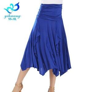 Image 2 - Darmowa wysyłka Ballroom Waltz spódnice do tańca nowoczesne standardowe Tango Salsa Samba Rumba praktyka kostiumy elastyczny pas #2547