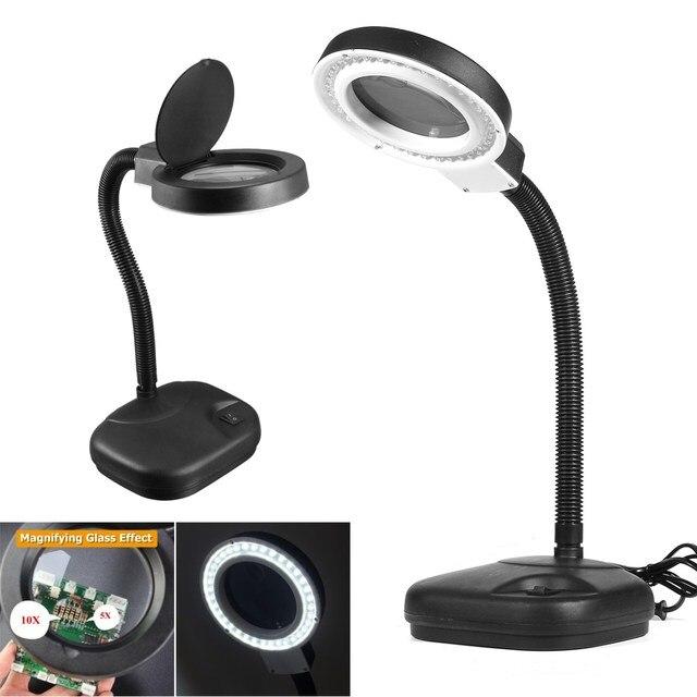 40 led multi function desktop magnifying lamp 5x 10x magnifier led 40 led multi function desktop magnifying lamp 5x 10x magnifier led desk light daylight craft aloadofball Gallery
