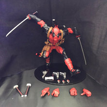23 CM Deadpool Marvel X-Men Running Estatueta Bonecas Brinquedos PVC Action Figure Model Collection Toy H539(China)