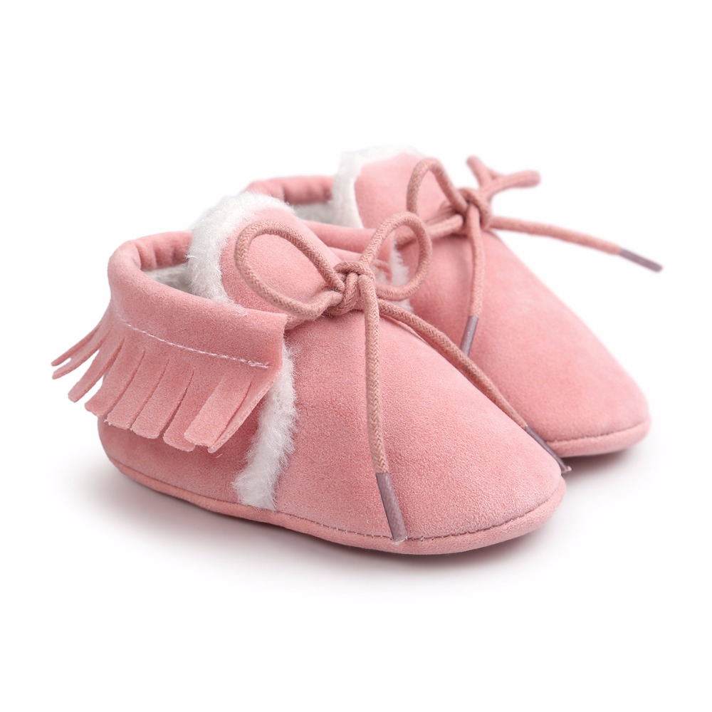 Baby Boy Girl Moccasins Soft Moccs Shoes Bebe Fringe Soft Soled Non-slip Footwear Crib Shoes New PU Suede Leather Newborn