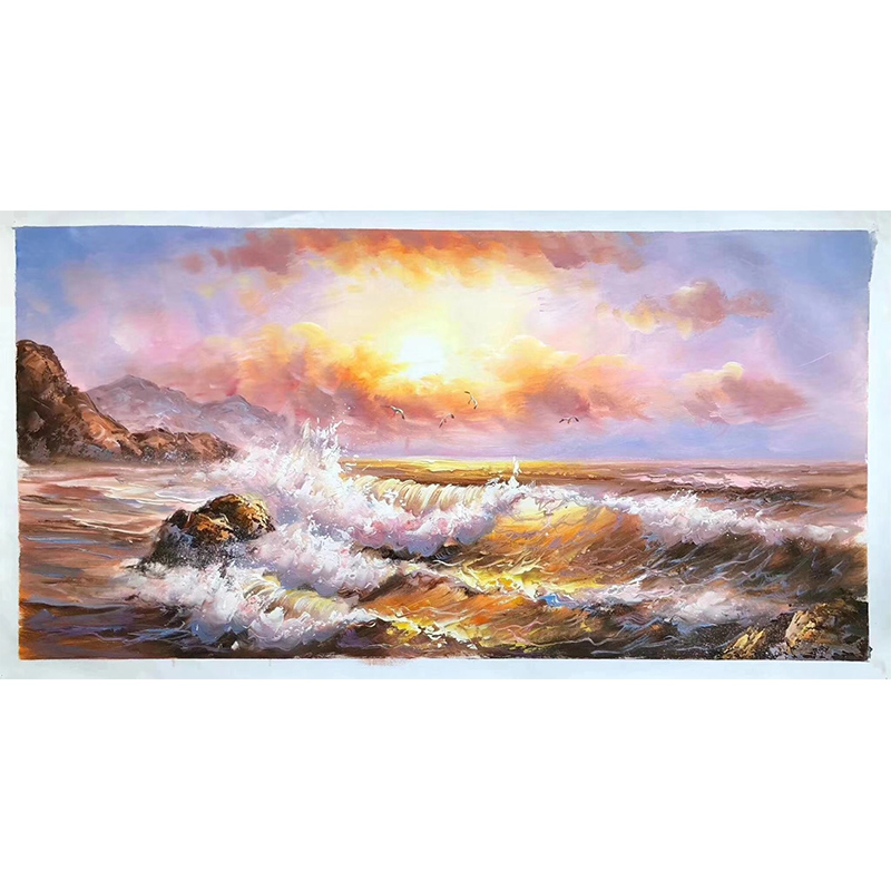 100% Hand Painted Modern Sea Sunset High-quality Oil Painting On Canvas Wall Art Wall Adornment Pictures Painting For Home Decor100% Hand Painted Modern Sea Sunset High-quality Oil Painting On Canvas Wall Art Wall Adornment Pictures Painting For Home Decor