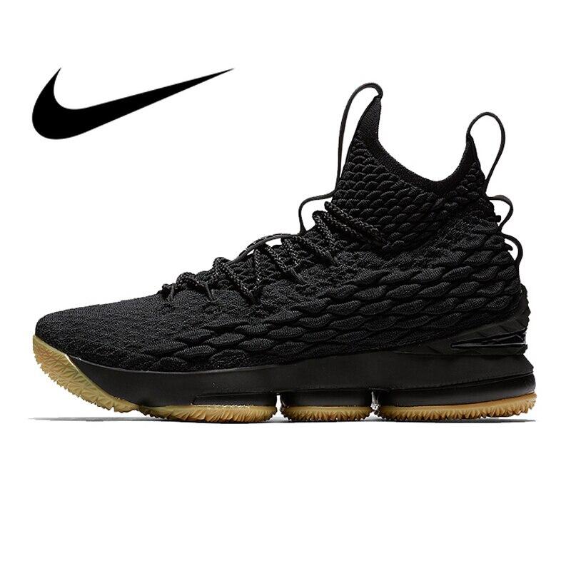 Original Authentic Nike Lebron 15 LBJ15 Men's Basketball Shoes Sport Sneakers Athletic Designer Footwear Top Quality 897649