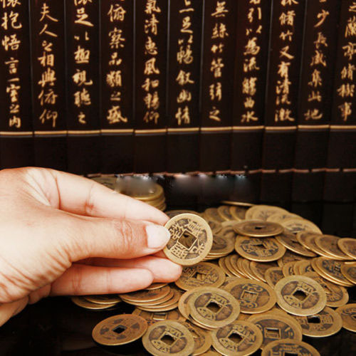 10pcs/lot Chinese Feng Shui Coins For Wealth And Success Lucky Oriental Emperor Qing Lucky Old Coin Home Decoration Fortune Coin