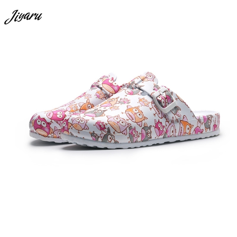 Women Slippers Surgical-Shoes Doctor Female Summer Cartoon No Hot-Top Operating Girls