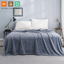 New Xiaomi Mijia COMO LIVING Flannel Solid Warm Velvet Antibacterial Blanket Anti static for Sheets and office home 3 Colors