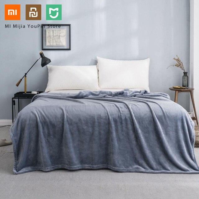 חדש Xiaomi Mijia COMO סלון פלנל מוצק חם קטיפה אנטיבקטריאלי שמיכת אנטי סטטי עבור גיליונות ולמשרד בית 3 צבעים