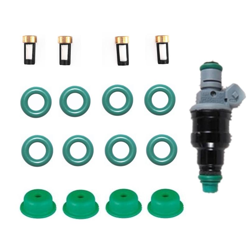 4 סטי דלק מזרק תיקון ערכת מזרק חלקי 078133551 fit עבור אאודי 100 2.6 אאודי A4 A6 2.4 0280150921