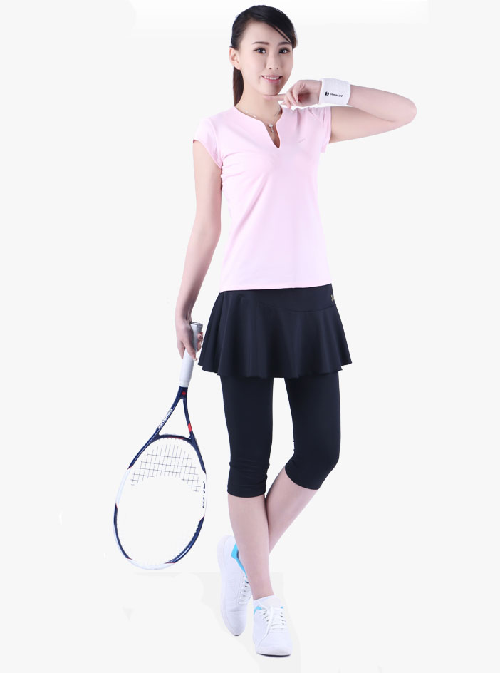 Fake 2 Pieces Badminton skirt Women's Autumn Tennis Skirt Calf Length Pants Badminton Skort Sports Skirts for Girls Safety Pants