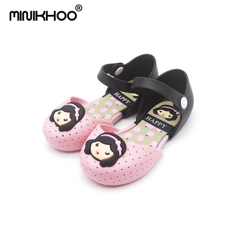 Mini Melissa 2018 Princess Sandals Girls Princess Shoes Childrens Sandals Anti-Skid Shoes Kids High Quality Mini Melissa