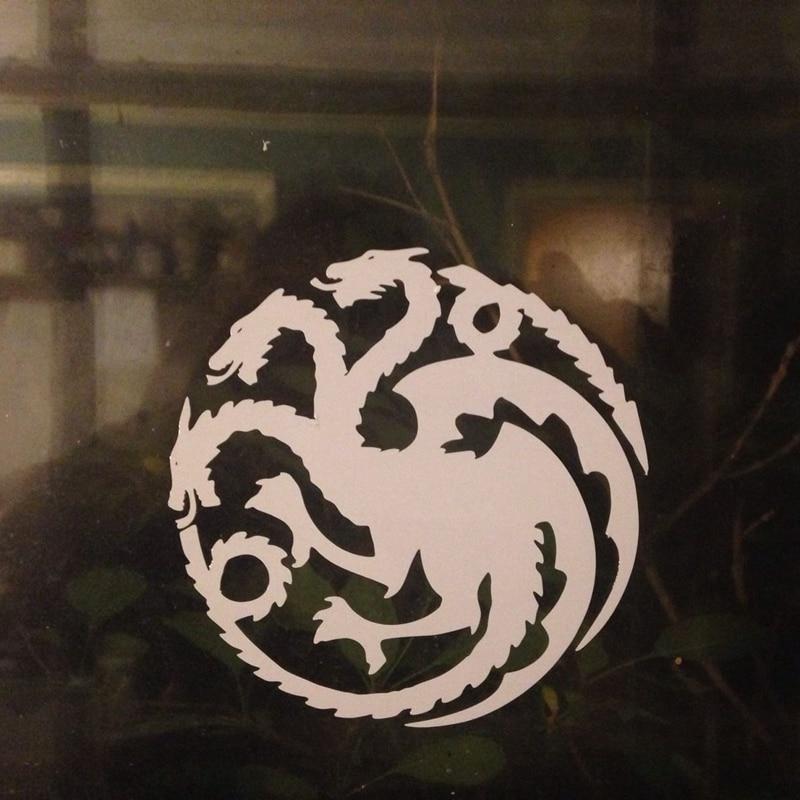Игра престолов наклейка окна автомобиля бампер виниловая наклейка герб Таргариенов дом