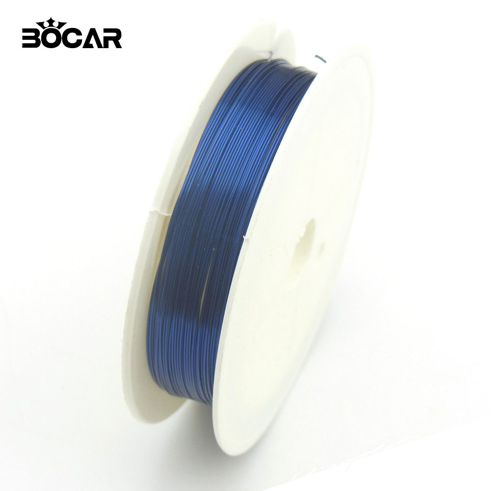BOCAR Wholesale 0.3mm 17M/Roll Crafts Copper Wire Plated Blue ...