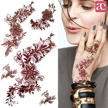 1 Sheet India Mehndi Tattoo Decals Henna Body Art Decals 3D Waterproof Paper Temporary Tattoo