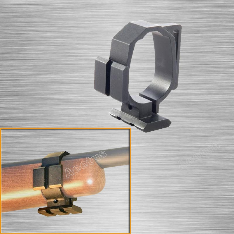 Tactical Barrel Band For Ruger 10/22 Two Picatinny Rails & Sling Slot Expand Accessory Mounting Options Black Free Shipping